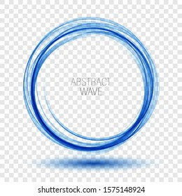 Abstract swirl energy circle Blue element design wave
