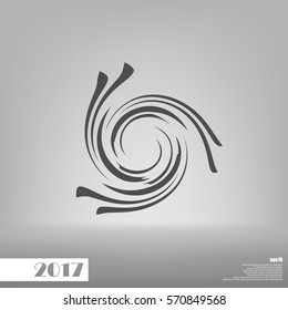 Abstract swirl logo flat vector illustration design