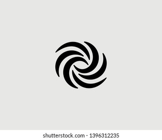 Abstract swirl science icon logotype. Universe eye spin galaxy vector symbol logo