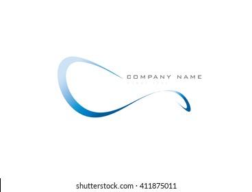 Abstract swirl trendy icon symbol on a white background, swoosh stylise, logo design, illustration