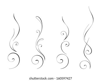 Abstract swirly decorations