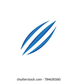 Abstract swoosh, claw. Vector logo template