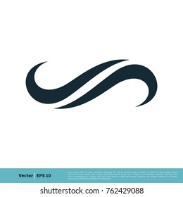 Abstract Swoosh Decoration Icon Vector Logo Template
