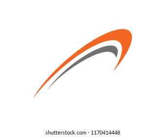 Abstract Swoosh Logo Design Template