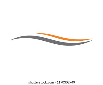 Abstract Swoosh Vector Logo Template