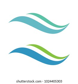 abstract swoosh wave logo icon vector template