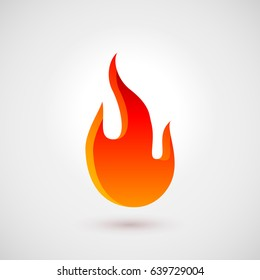 Abstract Symbol of Fire Flames. Logo Design Template. Icon Illustration for Design