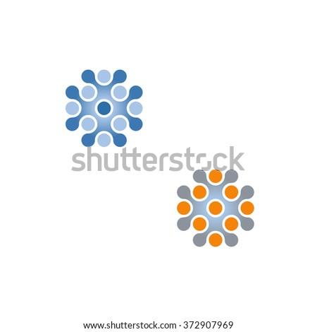 Abstract Symbol Unity Integration Collaboration Solidarity Stock