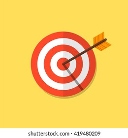 Abstract target flat design icon illustration