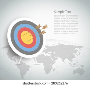 Abstract Target Template. Can be used for workflow layout, banner, diagram, web design, infographic Vector Eps10