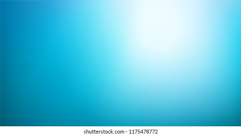 Abstract teal blue background. Blurred gradient turquoise backdrop. Vector illustration for your graphic design, banner, water or aqua poster