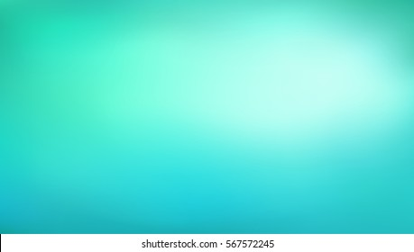 Abstract  teal gradient background. Blurred turquoise water backdrop. Vector illustration for your graphic design, banner, aqua poster
