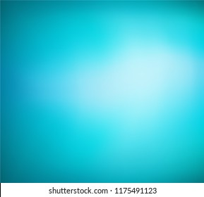 Abstract teal mint background. Blurred gradient turquoise backdrop. Vector illustration for your graphic design, banner, water or aqua poster