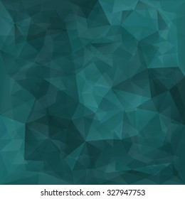 Abstract teal triangles vector background.