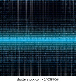 Abstract tech binary blue background