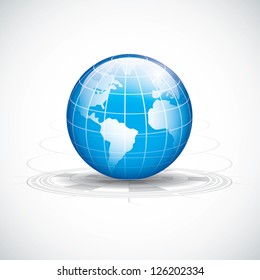 Abstract tech circles background design.World technology vector
