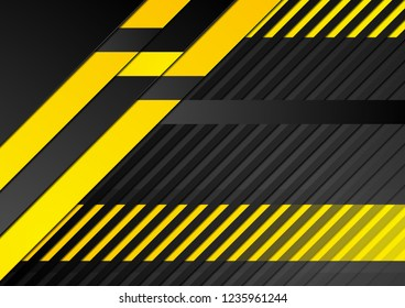 Abstract tech corporate orange and black contrast background. Vector geometric illustration for flyers, brochures, web graphic design