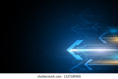 abstract tech sci fi arrow speed fast futuristic concept template background eps 10 vector