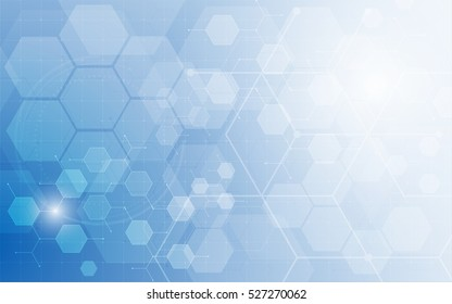 abstract tech system working hexagon texture pattern design innovation concept background