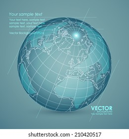 Abstract technical background design earth. Vector illustration