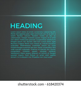 Abstract techno background with bright lines and particles. Glowing light effect. Creative business, science template with sparks. Geometric vector illustration. Futuristic wallpaper design.