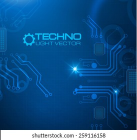 Abstract techno circuit background. Vector illustration