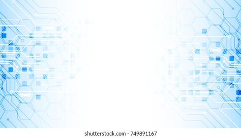 Abstract technological background. Business virtual concept. Vector illustration