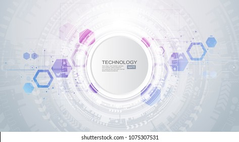 Abstract technological background with various technological elements. Structure pattern technology backdrop. Vector.
