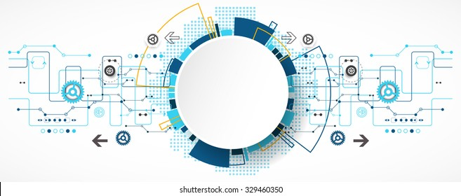 Abstract technological background with various technological elements. Structure pattern technology backdrop. Vector