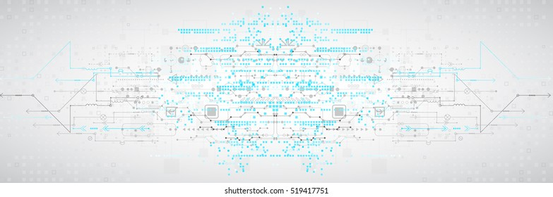 Abstract technological background with various elements. Structure pattern technology backdrop. Vector