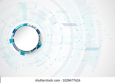 Abstract technological background vector.