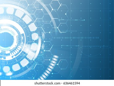 Abstract technological future interface blueprint drawing vector background design