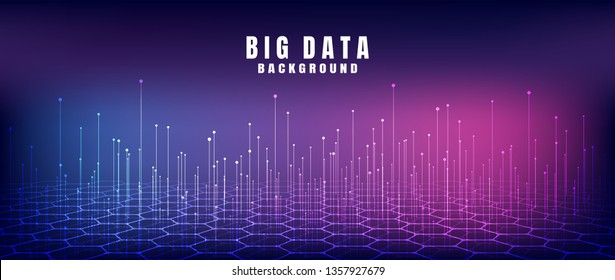 Abstract technology background with Big data. Internet connection, abstract sense of science and technology analytics concept graphic design. Vector illustration