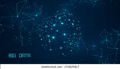 Abstract technology background. Big data for future technology. Artificial intelligence data research. Digital innovation concept for your design