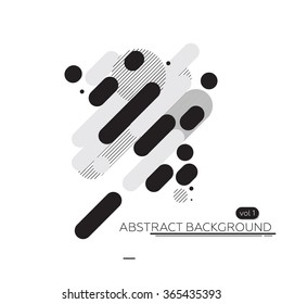 Abstract technology background black & white. simple vector illustration. Perfectly suited for the artwork, printing and web design