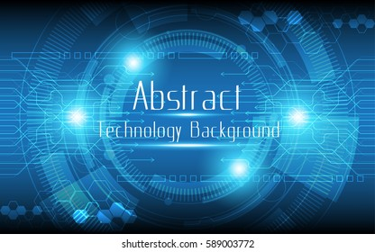 Abstract technology background Circle and arrow communication concept