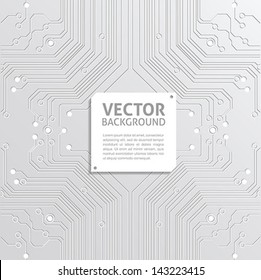 abstract technology background - circuit board texture vector