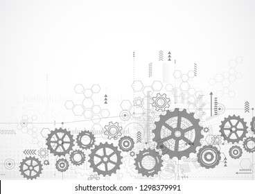 Abstract Technology Background. Communication and engineering concept. Vector illustration