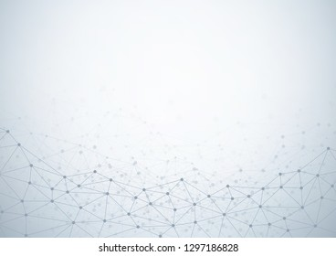 Abstract technology background with connecting dots and lines. Data and technology concept, network connection