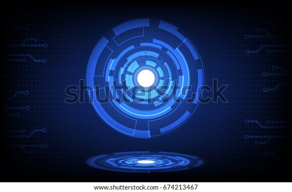 Abstract Technology Background , Futuristic Circuit Board , High Digital Computer , Concept Business Illustration , Vector