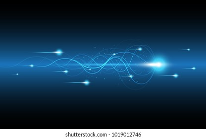 Abstract technology background Hi-speed communication concept innovation background vector illustration