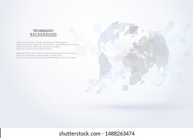 Abstract technology background Hi-tech communication concept futuristic digital innovation background for global web, connection, science. Vector illustration