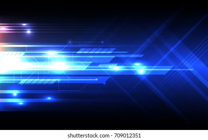 Abstract technology background Hi-tech communication concept innovation background vector illustration