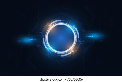 Abstract technology background Hi-tech communication concept futuristic digital innovation background vector illustration