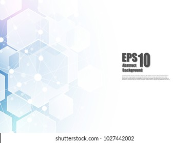 Abstract technology background, isometric form, hexagon form, with copy space.Vector illustrator.