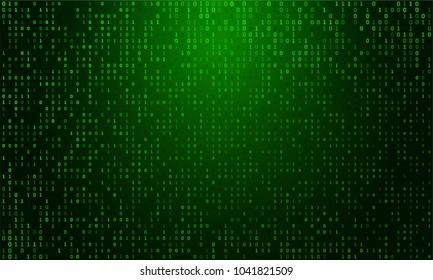 Abstract Technology Background. Matrix background with the green symbols.  Computer Code. Programming. Coding. Hacker concept.