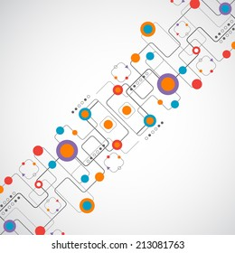 Abstract technology background/ Network concept