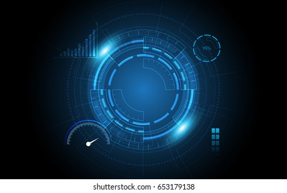 Abstract technology background sci fi user interface innovation concept