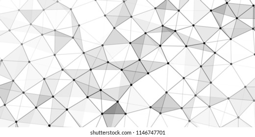 Abstract technology background. Science background. Big data. Graphic abstract background. Wave 3d. Vector illustration