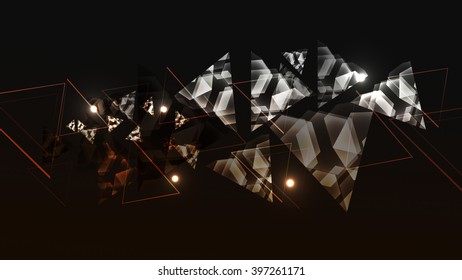 Abstract technology background with triangle. Abstract background with color triangles mosaic.